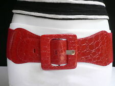 New Women Red Chic Wide Fashion Belt Hip Elastic High Waist Size XS / S