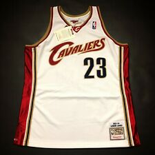 100% Authentic Lebron James Mitchell & Ness 03 04 Cavaliers Jersey Size 48 XL