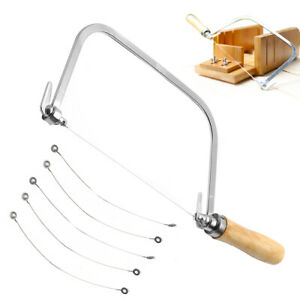 Soap Loaf String Wire Cutter Saw Candle Wax Slice Making + 5 Wire Strings /AU