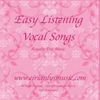 Supporting NHS Charity: EASY LISTENING VOCAL CD ALBUM - ROYALTY-FREE MUSIC:
