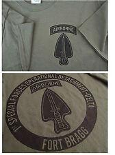 Delta Force Airborne (1st SFOD-D) Fort Bragg Silk-Screened T-Shirt MEDIUM Ultra