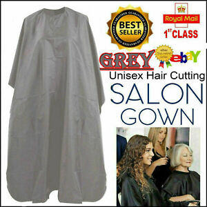 Barbers Hair Cut/Cutting Hairdressing Hairdressers Salon Barber Gown Cape Grey