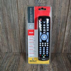 RCA Black RCRN04GR 4 Device Universal Remote Control Backlit Keypad
