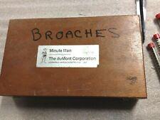 """DuMont Minute Man Broach Set Keyways: 1/8-3/16-1/4-3/8-5/16"""" w/ Many Bushings"""