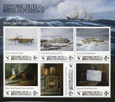 Ross Dependency NZ 2017 MNH Historic Huts Scott Shackleton 6v M/S Stamps