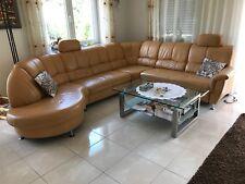 Echt Leder Sofa Wohnlandschaft mit Schlaffunktion gebraucht