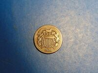 US SHIELD TWO CENTS 1864 LARGE MOTTO A595  I COMBINE SHIPPING