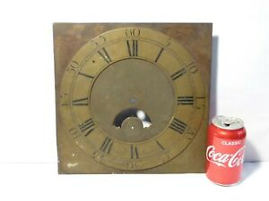 18thC Engraved Archd Strachan Tanfield No.549 Square Brass Long Case Clock Dial
