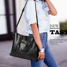 Women Real Genuine Leather Tote Handbag Crossbody Shoulder Messenger Bag
