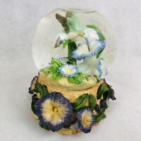 Hummingbird Glitter Snow Globe San Francisco Music Box Company Flowers Bird