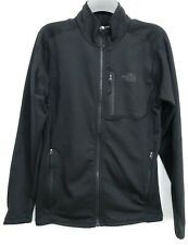 New The North Face Mens I-Phone Tech Fleece Black Active Hiking Track Jacket S