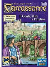 CARCASSONNE - 6° Espansione Gioco da tavolo Ita - IL CONTE, IL RE e L'ERETICO