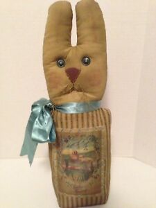 Sweet Primitive Stumpy Standing Bunny/Spring/Easter-Country-Rustic Home Decor