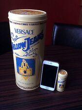 Gianni Versace Jeans Empty Perfume Tin Giant & Miniature Yellow L1