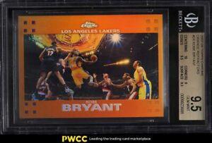 2007 Topps Chrome Orange Refractor Kobe Bryant /199 #24 BGS 9.5 GEM MINT