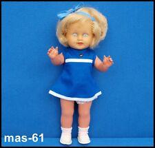 Schildkröt Poupée celluloid cheveux blonds 30 cm 60er Ans doll