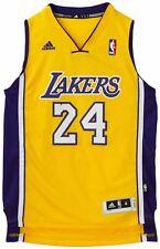 KOBE BRYANT LA LAKERS 24 YELLOW NBA Basketball SWINGMAN JERSEY Shirt