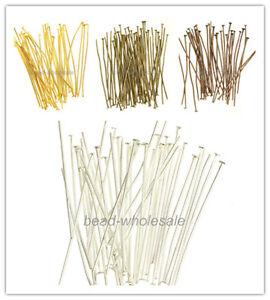 100x Nietstifte Kettelstifte Prismenstifte silber gold bronze 70mm NEU