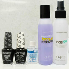 OPI GelColor Gel Nail Kit 5pc: Base + Top + Bond Aid + Cleanser Nas 99 + Remover