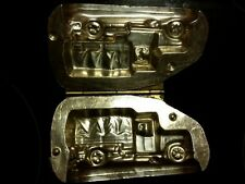 HINGED SEMI CARGO TRUCK CAMION LKW DUTCH METAL CHOCOLATE MOLD VINTAGE ANTIQUE