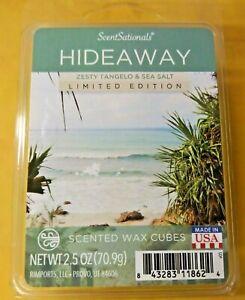 Scent Sationals HIDEAEAY ZESTY TANGELO & SEA SALT  Wax Melts 6 cubes 2.50 oz