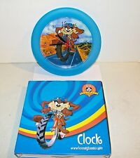 "Warner Bros. Looney Tunes 10.5"" Taz Tasmanian Devil Character Wall Clock B.O.NEW"