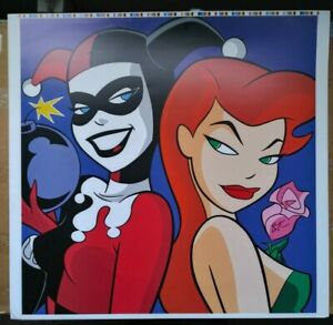 BATMAN THE ANIMATED SERIES BRUCE TIMM SIGNED WB VINTAGE POISON IVY HARLEY QUINN