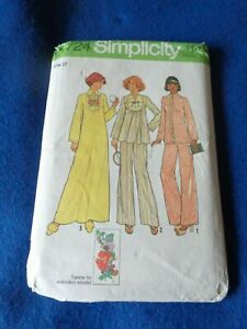 VINTAGE SIMPLICITY SEWING PATTERN - LADY'S CAFTAN/NIGHTDRSSS/PYJAMAS  1976  12
