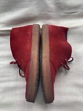 Clarks Originals Preston Desert Boot Red Suede UK 8