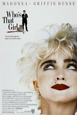 WHO'S THAT GIRL movie poster '87 MADONNA griffin dunne ROMANTIC COMEDY 24X36