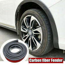 "59"" Universal Car Fender Lip Flare Wheel Moulding Trim Protector Carbon Fiber X2"