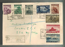 1941 Poland first day Cover FDC Government in Exile Set # 3K1-3K8 to England