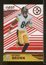 CR29) 2016 Panini Clear Vision #55 ANTONIO BROWN Pittsburgh Steelers 45/49