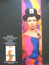 PUBLICITE DE PRESSE SCORE CIGARETTES TABACS BLONDS FRENCH AD 1968