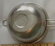 """Stainless Steel  7"""" Crude Mesh Strainer Colander Sieve Sifter with Handle"""