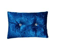 Blackout Royal Blue Crushed Velvet Eyelet Ring Top Fully Lined Curtains Pairs
