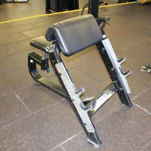 Precor Icarian Preacher Curl Bench - CLEARANCE - Commercial Gym Equipment