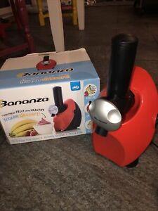 Bananza JML Frozen Fruit Healthy Dessert Maker - Red. Fully Working