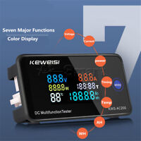 DC0-200V 10A/50A/100A Shunt Digital LED Voltage Current Temperature Power Meter