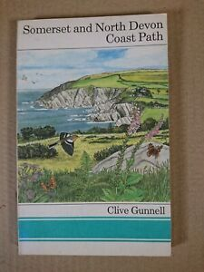 SOMERSET AND NORTH DEVON COAST PATH CLIVE GUNNELL FOOTPATH GUIDE NO.10