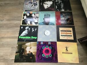 """Job lot 12"""" vinyl record singles all play tested Hue & Cry Simple Minds etc"""