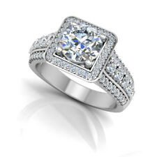 White Gold Round Size 6 7 4.5 Beautiful 1.59 Ct Diamond Engagement Ring 1K Solid