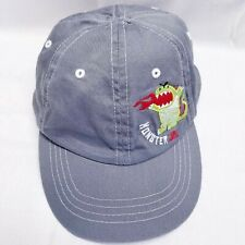 Monster Jr. Fire Dragon Boy's Strapback Baseball Hat Cap Gray Embroidered VGC