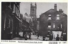 Lancashire Postcard - Bygone Oldham - Parish Church from High Street - Ref R332