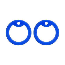 2 Blue Dog Tag Silencers - Military GI Silencer - Tag-Z