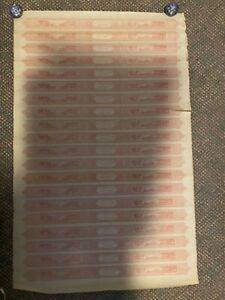 B36 - CIVIL WAR 1864 CIGAR TAXPAID STAMPS $40 ROSE FULL SHEET OF 20, Unused