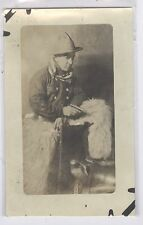Studio Cowboy posed photo  RPPC #15