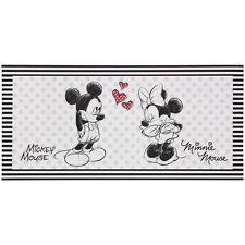 Wandbild Keilrahmen Kunstdruck 33x70 Disney Minnie und Mickey Maus schwarz weiß