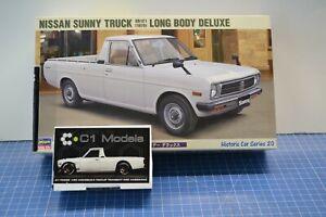 Hasegawa Nissan Sunny Truck w/ Resin C1 Models Hakosuka Pickup Conversion