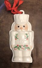 Vintage Lenox Holiday Nutcracker King Cookie Press Porcelain Christmas Ornament
